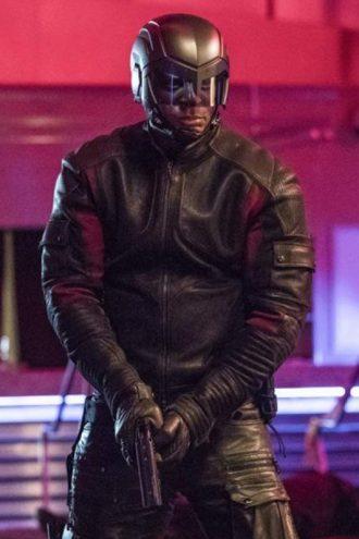 Arrow S06 John Diggle Black Leather Jacket