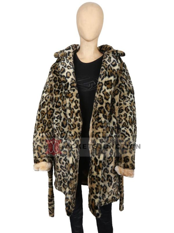 Beth Dutton Yellowstone S02 Cheetah Print Fur Coat