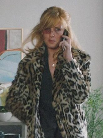 Beth Dutton Yellowstone S02 Cheetah Print Fur Coat