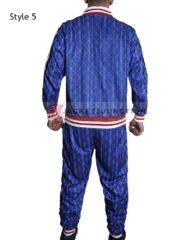 Blue Checkered Colin Farrell Coach The Gentlemen Tracksuit