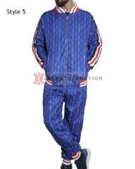 Blue Checkered Colin Farrell Coach The Gentlemen Tracksuit (2)