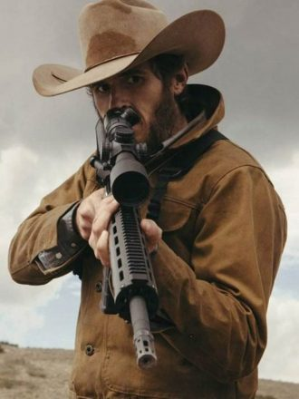 Dave Annable Yellowstone Brown Cotton Jacket