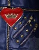 Descendants 2 Evie Blue Leather Jacket