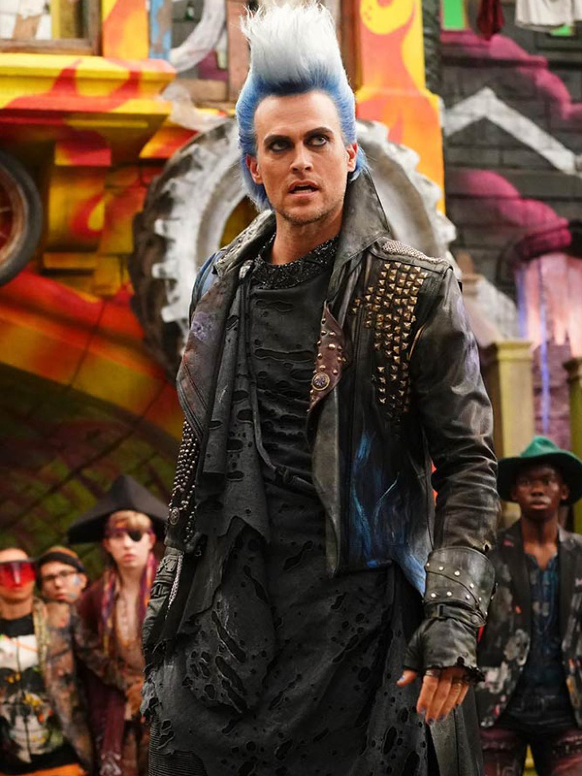 Descendants 3 Hades Black Leather Coat