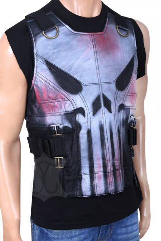 Frank Castle-The Punisher War Zone Ray Stevenson Black Vest