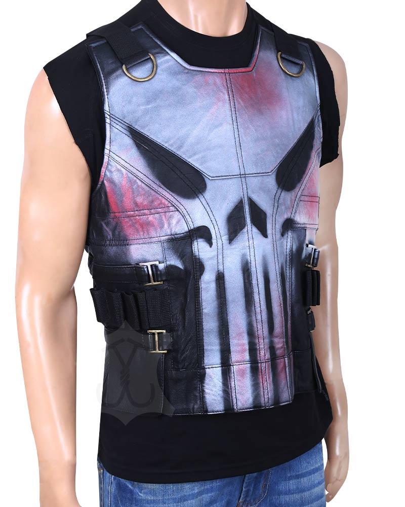 Frank Castle-The Punisher War Zone Ray Stevenson Black Vest