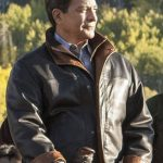 Gil Birmingham Yellowstone Brown Leather Jacket