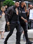 Jermaine Pennant Biker Leather Jacket
