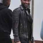 Jermaine Pennant Brown Biker Leather Jacket