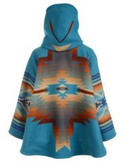Kelly Reilly Yellowstone Blanket Hooded Coat