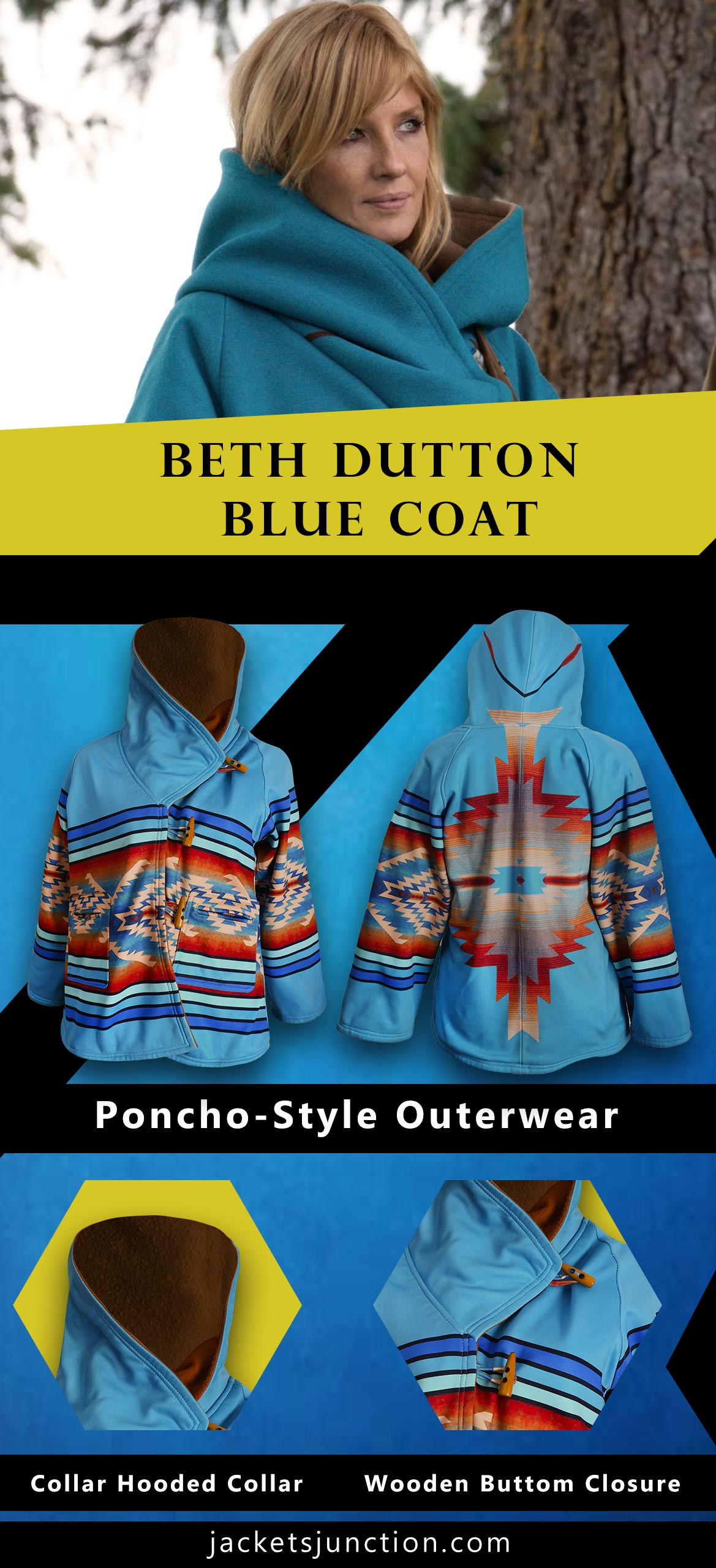 Kelly-Reilly-Yellowstone-Blue-Hooded-Coat-infographic-banner