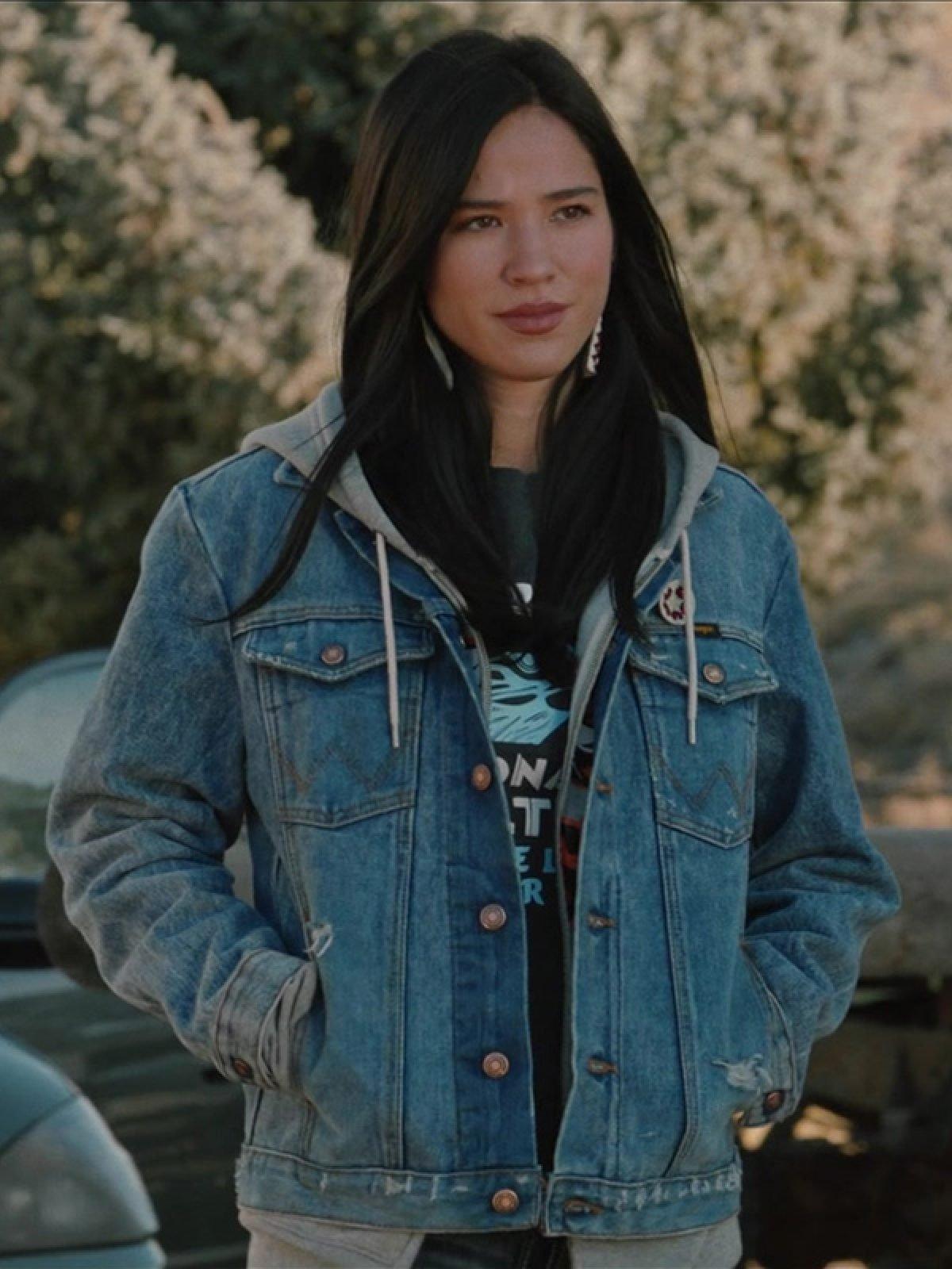 Kelsey Asbille Yellowstone Blue Denim Jacket
