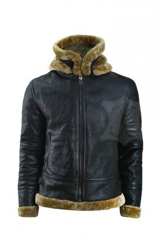 Mens Black Sheepskin Jacket