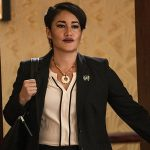 Q orianka Kilcher Yellowstone Black Coat