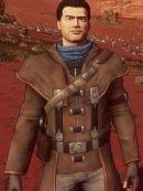 Robert Foster Beyond A Steel Sky Brown Leather Coat