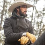 Ryan Bingham Yellowstone Black Peacoat
