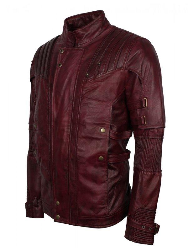 Star Lord Maroon Leather Jacket