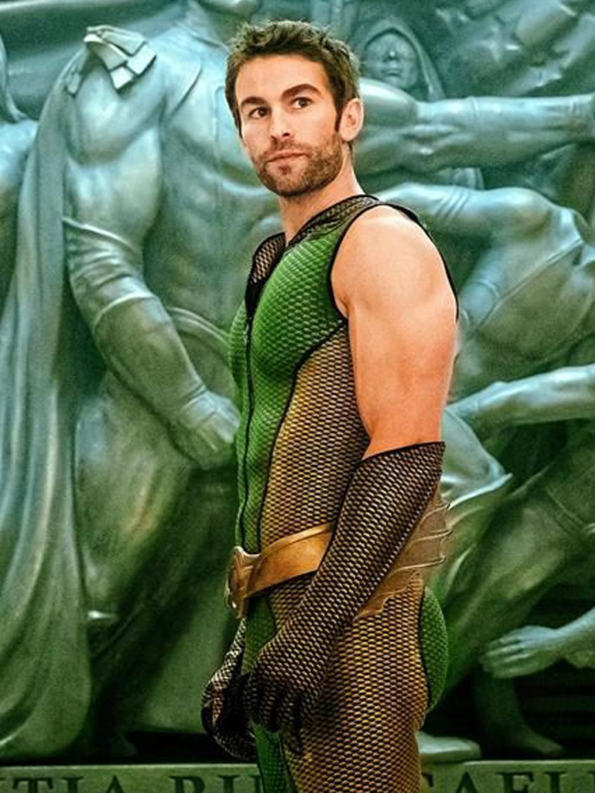 The Boys Chace Crawford Green Leather Vest