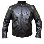 Thomas Jane The Punisher Black Skull Leather Jacket