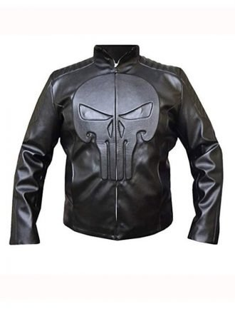Thomas Jane The Punisher Black Skull Leather Jacket