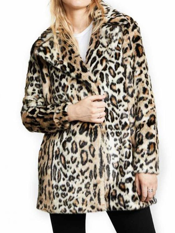 Tv Series Yellowstone Kelly Reilly Shearling Cheetah Coat