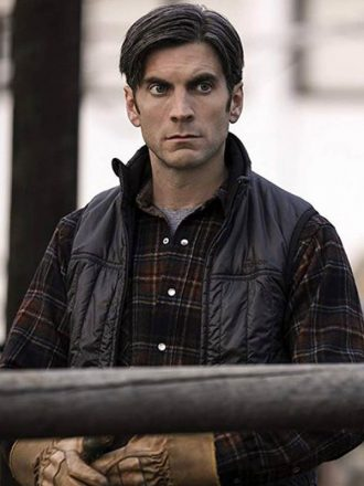 Wes Bentley Yellowstone Black Vest
