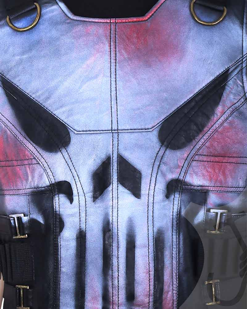 punisher cosplay vest
