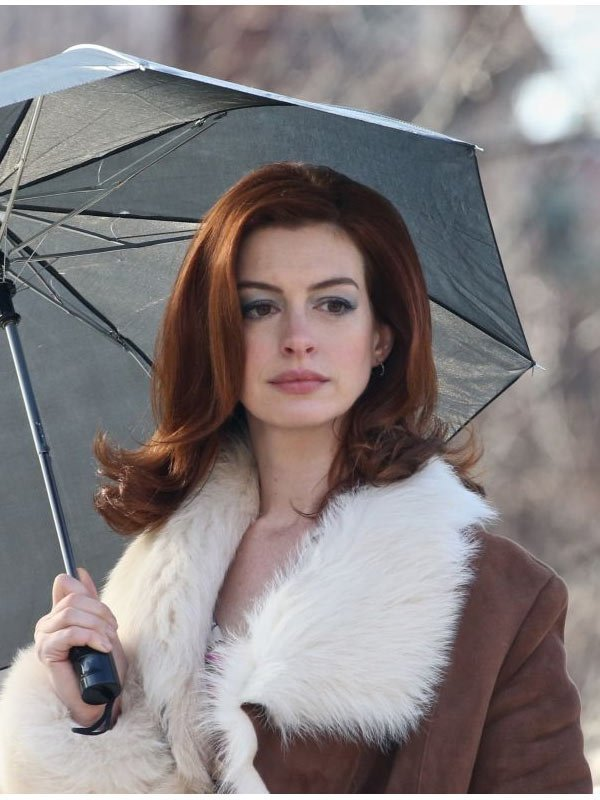 Anne Hathaway Modern Love Brown Coat