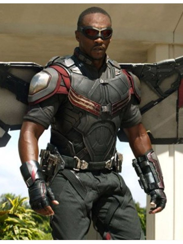 Anthony Mackie The Falcon And The Winter Soldier Leather Vest