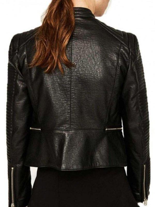 Arrow Dinah Darke Black Leather Jacket
