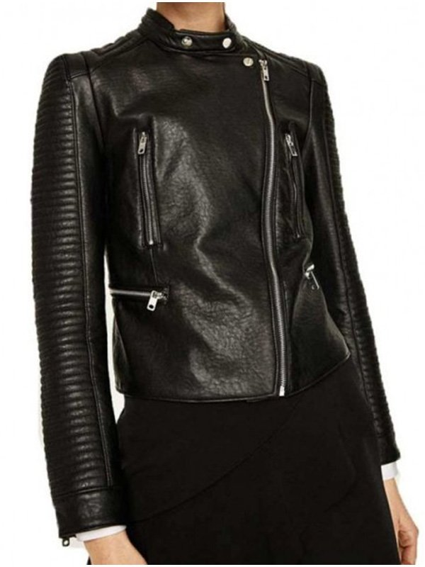 Arrow Dinah Darke Black Padded Biker Jacket