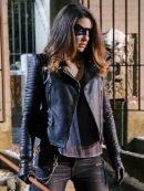 Arrow Dinah Darke Black Padded Leather Jacket