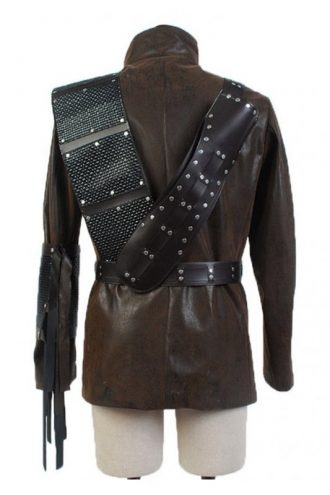 Arrow John Barrowman Brown Leather Coat