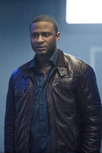Arrow John Diggle Brown Leather Jacket