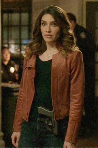 Arrow Juliana Harkavy Brown Leather Jacket