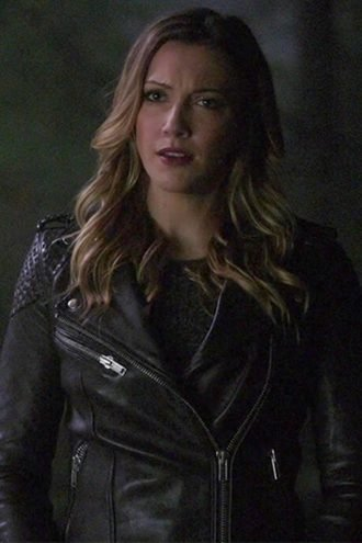 Arrow Laurel Lance Black Biker Leather Jacket