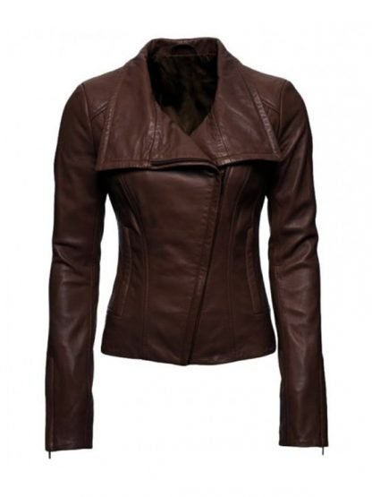 Arrow Lyla Michaels Brown Leather Jacket