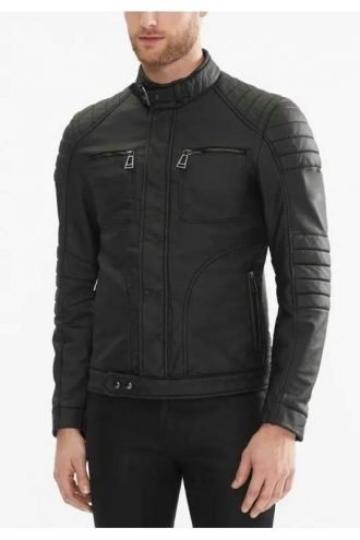 Arrow Malcolm Merlyn Black Leather Jacket