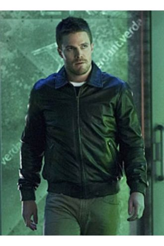 Arrow Oliver Queen Black Bomber Jacket