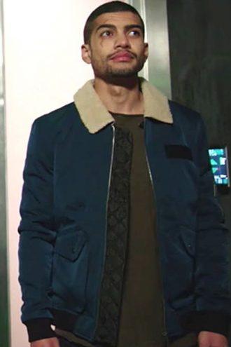 Arrow Rene Ramirez Blue Bomber Jacket