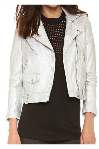 Arrow Thea Queren Silver Leather Jacket
