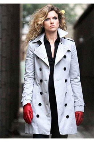 Barbara Kean Gotham White Cotton Coat