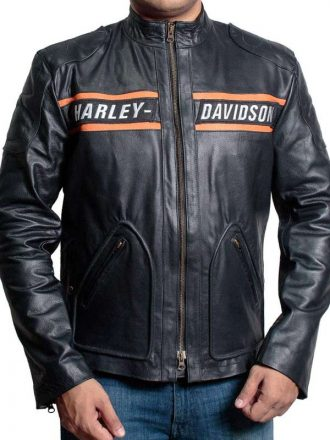 Bill Goldberg WWE Harley Davidson Vintage Biker Leather Jacket