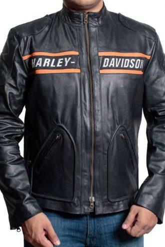 Bill Goldberg WWE Harley Davidson Vintage Biker Leather Jacket