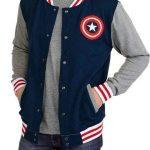 Captain America Blue Varsity Bomber Jacket
