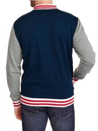 Captain America Blue Varsity Letterman Jacket