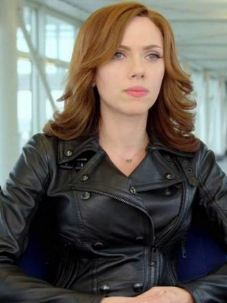 Captain America Civil War Scarlett Johansson Leather Jacket