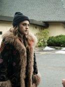 Carly Chaikin Mr Robot Shearling Fur Coat