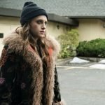 Carly Chaikin Mr Robot Shearling Fur Coat