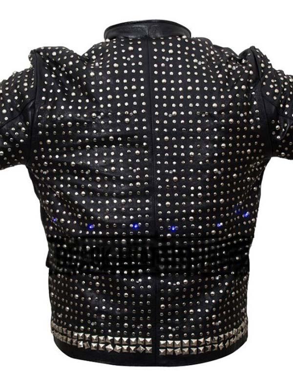 Chris Jericho Y2J Sparkle Light Up Leather Jacket
